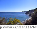 A calm Izu sea that spreads in the clear spring sky 46133269