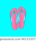 Flip flops beach slippers element for summer theme 46133357
