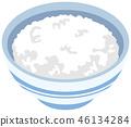 food, polished rice, vector 46134284