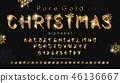 font, christmas, alphabet 46136667