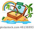 suitcase icon holiday 46136993