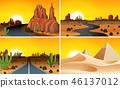 set sunset desert 46137012