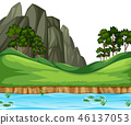 hill nature vector 46137053