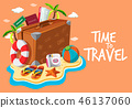 Set of travel object template 46137060