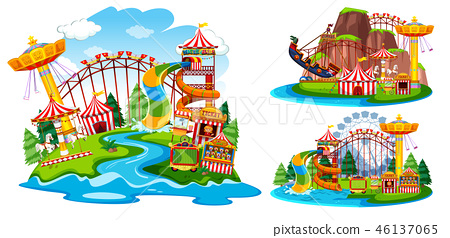 Set of isolated theme park 46137065