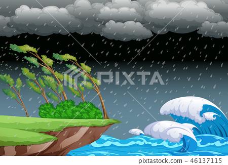 A stormy night background 46137115