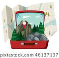 nature, scene, suitcase 46137137
