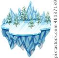 tree, winter, landscape 46137139