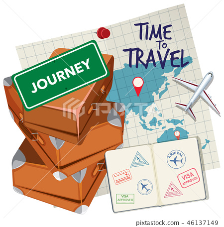 Time to travel logo 46137149