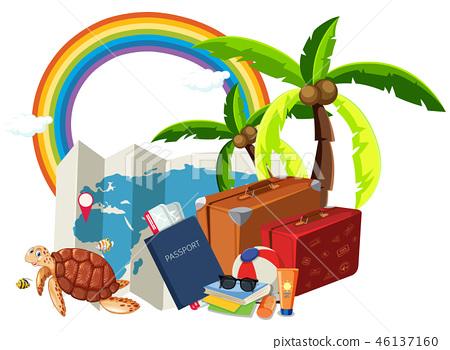 Summer holiday element on white background 46137160