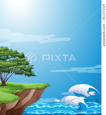 A nature cliff landscape 46137204