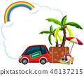 Travel element on blank template 46137215