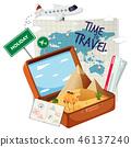 vintage, suitcase, travel 46137240
