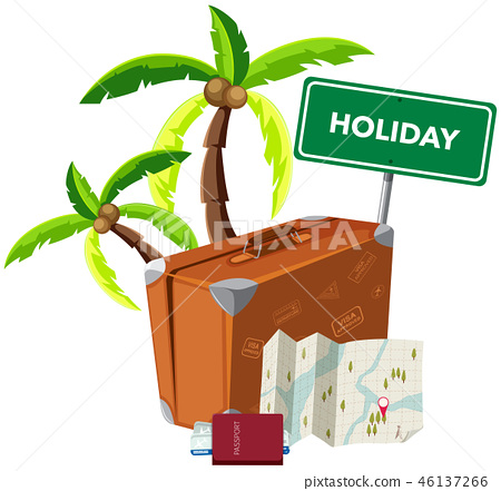 Holiday object on white background 46137266