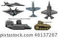 Set of army vehicles 46137267