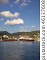 นางาซากิ,ท่าเรือ,ท้องฟ้าเป็นสีฟ้า 46137608