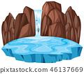 nature, waterfall, vector 46137669