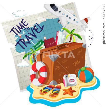 Time to travel logo 46137679