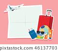 여권, 벡터, 수하물 46137703