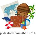 dolphin, hut, baggage 46137716