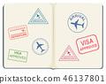 Inside of a passport 46137801