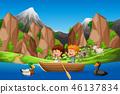 nature, boat, paddle 46137834