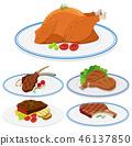 food, meat, set 46137850