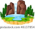 waterfall, landscape, water 46137854