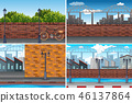 Urban city day time background 46137864