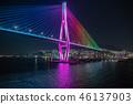 เกาหลีใต้,ประภาคาร,ภาพถ่ายอาคารช่วงค่ำ 46137903