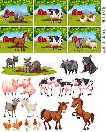 Set of animal at farm 46138166