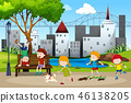 Children playing in the park 46138205