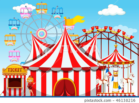 A theme park background 46138216