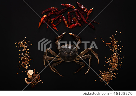 Raw Shanghai hairy crab or Chinese mitten crab 46138270