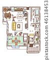 Dwelling House, home, house 46138453