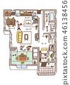 Dwelling House, home, house 46138456