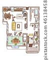 Dwelling House, home, house 46138458