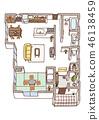 집, 평면도, 주택 46138459