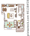 Dwelling House, home, house 46138459