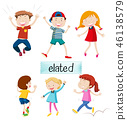 Set of elated kids 46138579