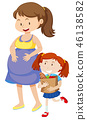 happy, mother, daughter 46138582