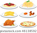 Set of different meals 46138592