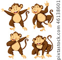 monkey, animal, vector 46138601