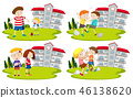 Set of bullys and kids 46138620