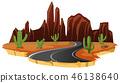 cactus, desert, cartoon 46138640