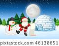moon, igloo, christmas 46138651