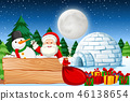 night, christmas, santa 46138654