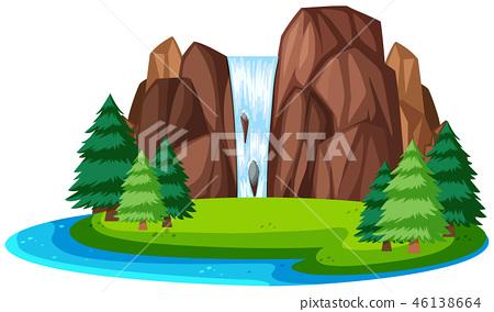 A beautiful nature landscape 46138664