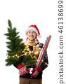 Man santa hat 46138699