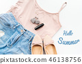 Hello summer. Female clothes, and accessories 46138756